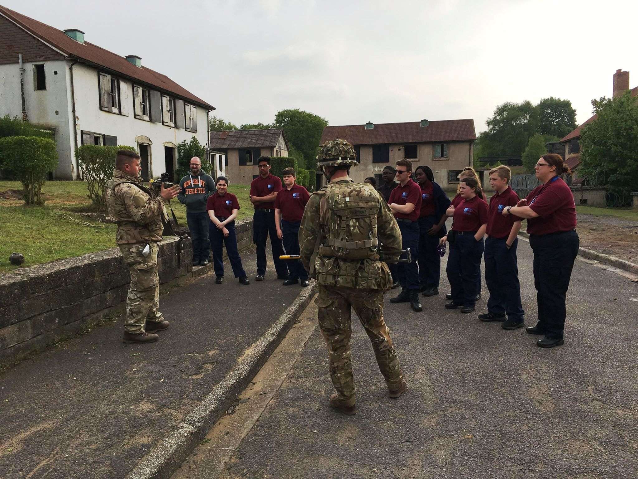 Army exercise weekend for Merton and Wandsworth Cadets