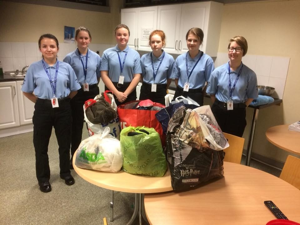Lincolnshire Police- Boston Police cadets help beat winter's chill