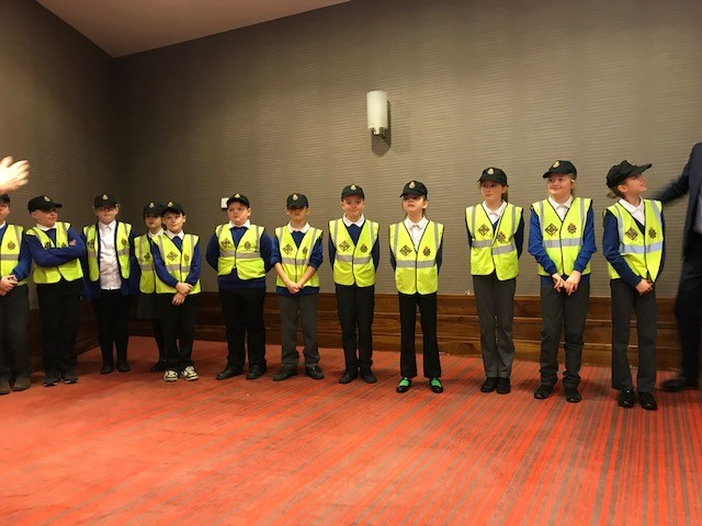 Mini Police officers from Timothy Hackworth Primary in Shildon, Co. Durham