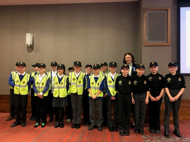 Lord High Sheriff of Durham with Mini Police Officers from