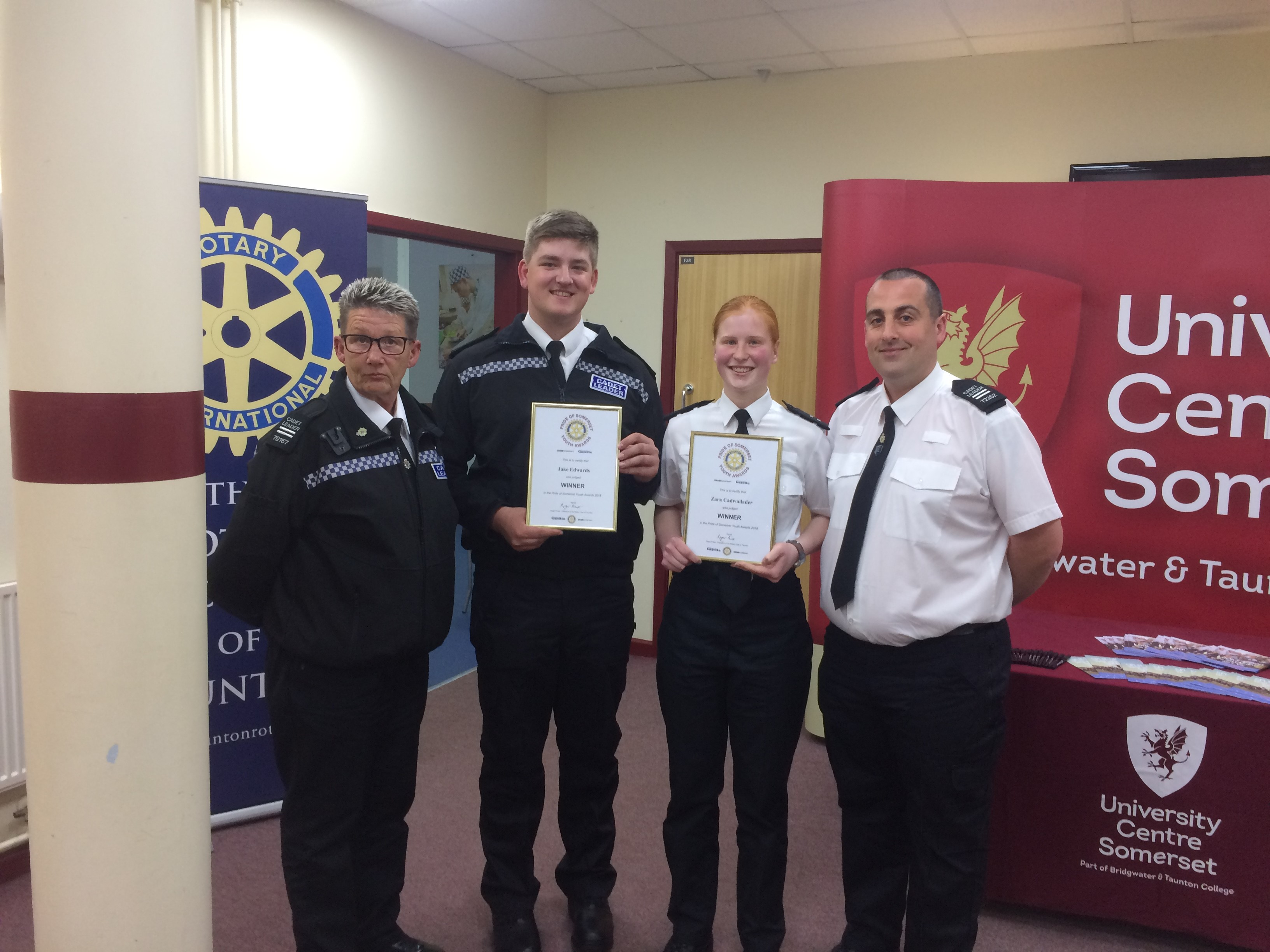 Taunton & Street VPC Cadets recognised at Pride of Somerset Youth awards
