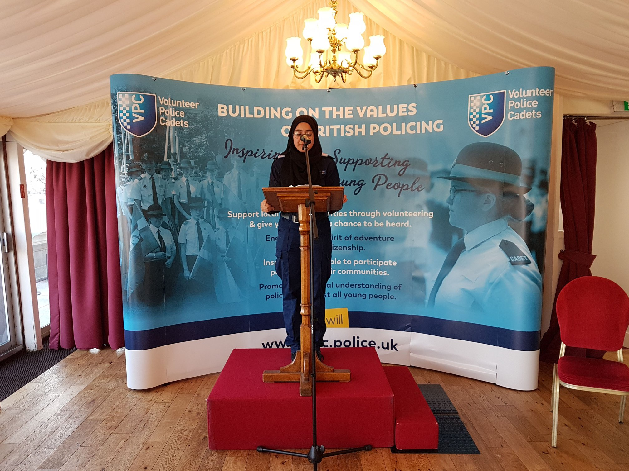 Cadet Zainab HT VPC opens and closes the event