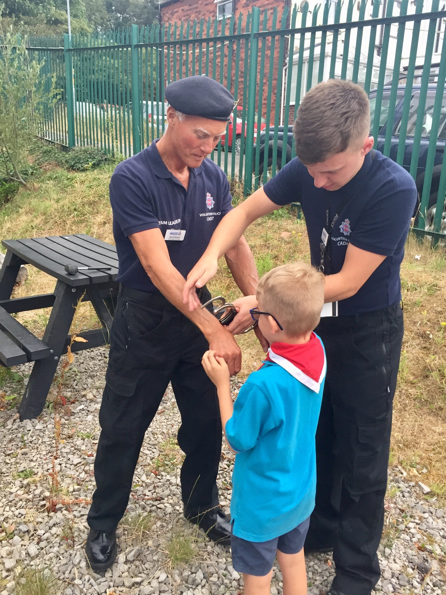 One of the Beavers making his first arrest!!