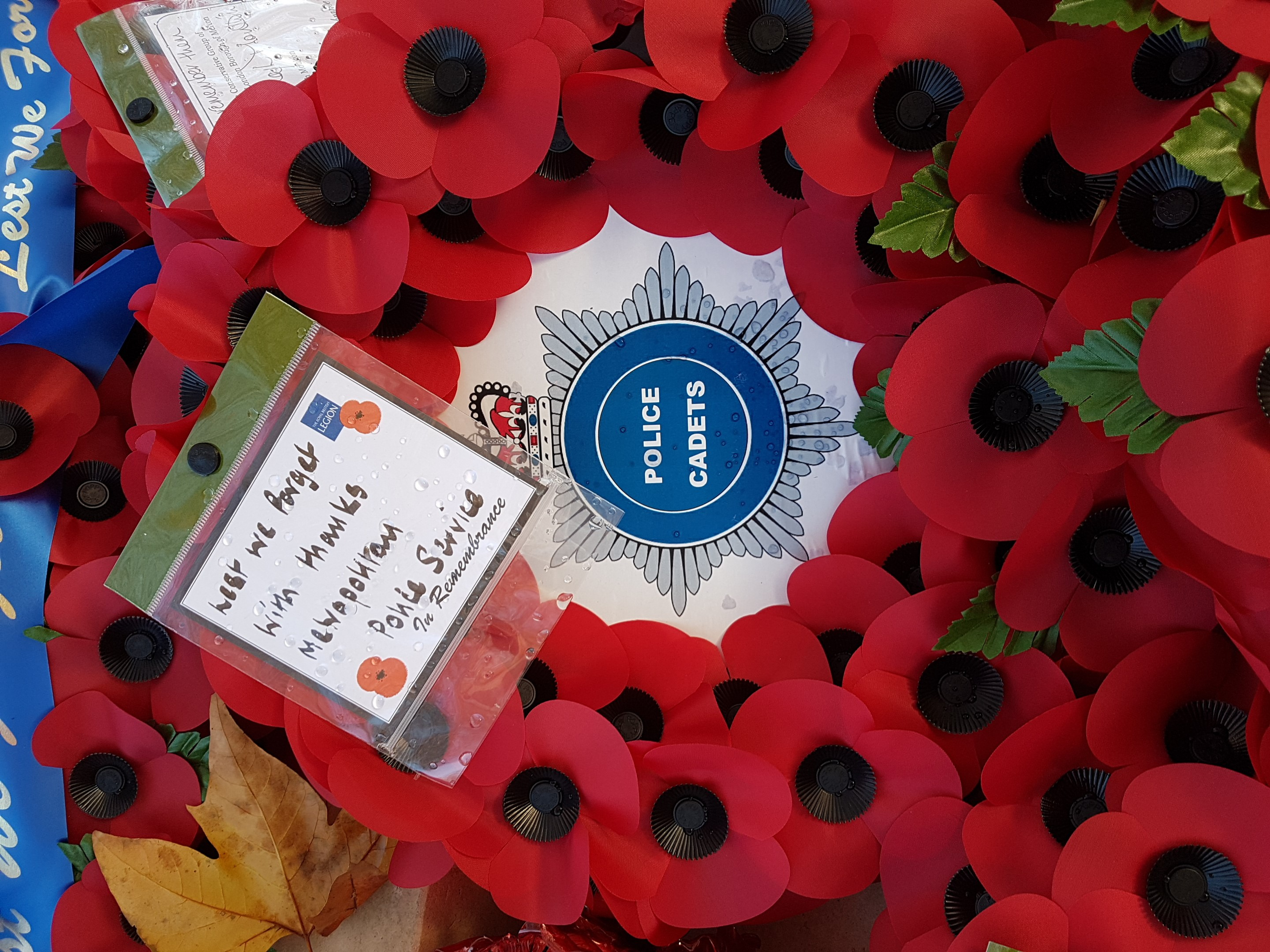 Volunteer Police Cadets around the UK on parade for Armistice Day
